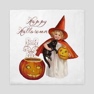 Vintage Halloween witch Queen Duvet
