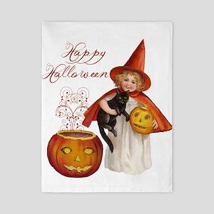 Vintage Halloween witch Twin Duvet