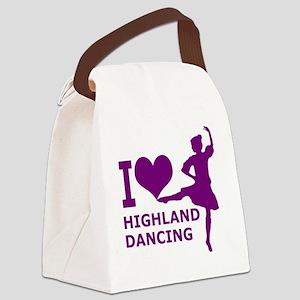 I LOVE highland dancing purple Canvas Lunch Bag