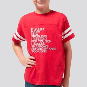 99 Problems, Knee Arrow Rhyme Youth Football Shirt
