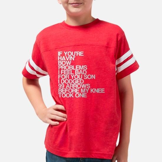 99 Problems, Knee Arrow Rhyme Youth Football Shirt