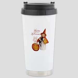 Vintage Halloween witch Travel Mug