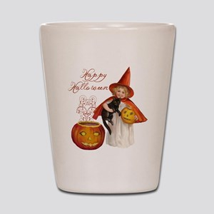 Vintage Halloween witch Shot Glass