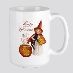 Vintage Halloween witch Mugs