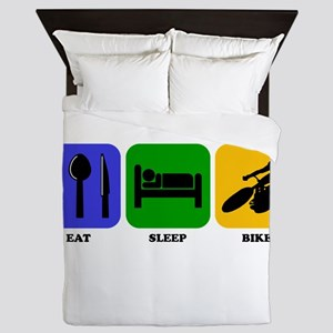 Eat Sleep Bike Queen Duvet
