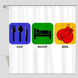 Eat Sleep Box Shower Curtain