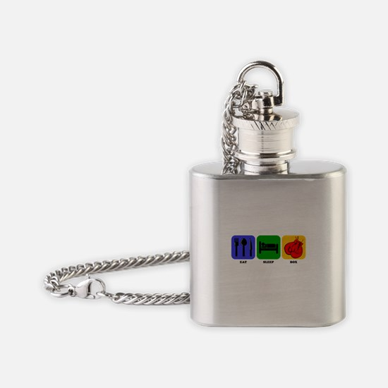 Eat Sleep Box Flask Necklace