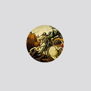 Saint George and the Dragon, painting  Mini Button