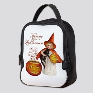 Vintage Halloween witch Neoprene Lunch Bag