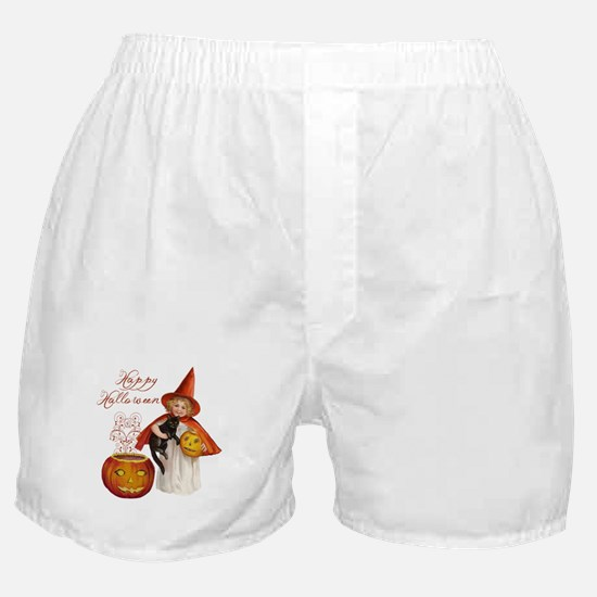 Vintage Halloween witch Boxer Shorts