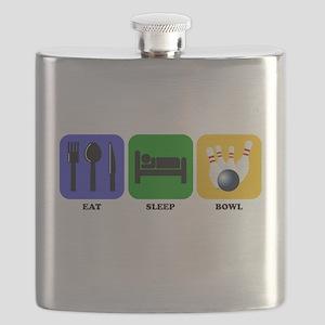 Eat Sleep Bowl Flask