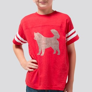 d008 Alaskan Malamute Youth Football Shirt
