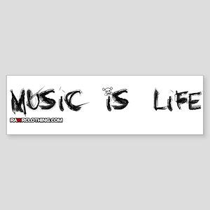Music Is My Life Skull Sticker (Bumper)