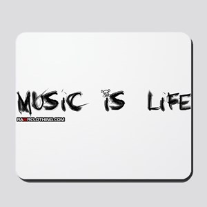 Music Is My Life Skull Mousepad