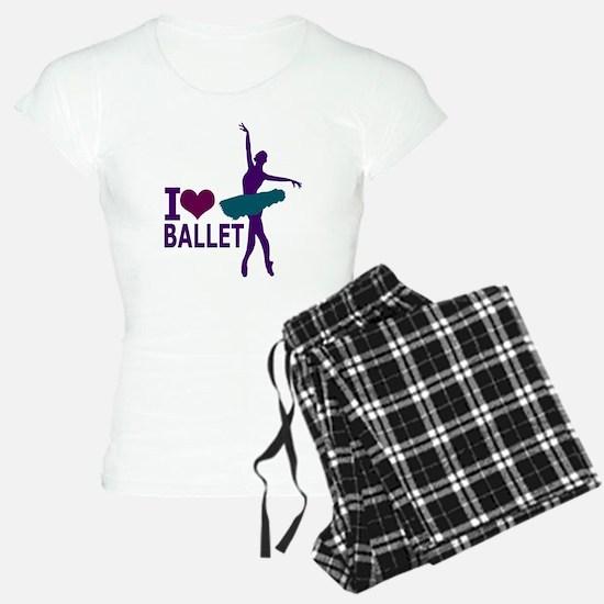 I LOVE Ballet jewel colors Pajamas