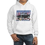 Vintage 1955 Chevy Muscle Car Hooded Sweatshirt