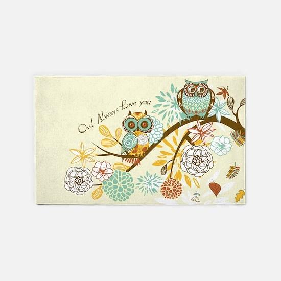 Autumn Owl 3'x5' Area Rug