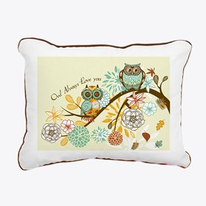 Autumn Owl Rectangular Canvas Pillow