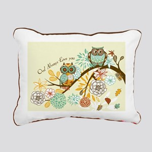 Autumn Owl Rectangular Canvas Pillow