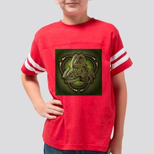 Green Celtic Triquetra Youth Football Shirt