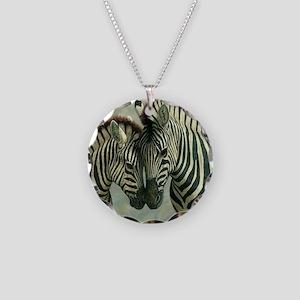 Zebras Necklace Circle Charm
