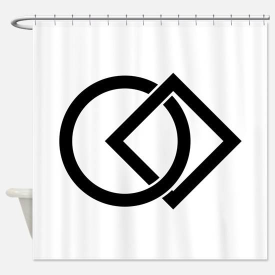 Linked circle and square Shower Curtain