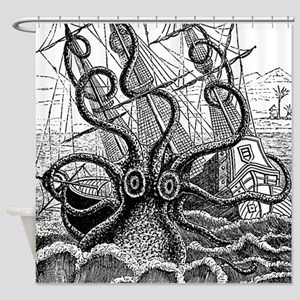 Kraken Attack Shower Curtain