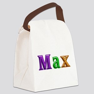 Max Shiny Colors Canvas Lunch Bag