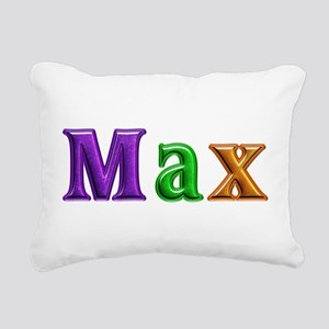 Max Shiny Colors Rectangular Canvas Pillow