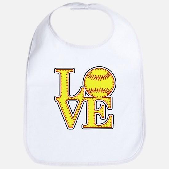 Love Softball Original Bib