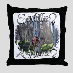 Saddle? Dane? Throw Pillow