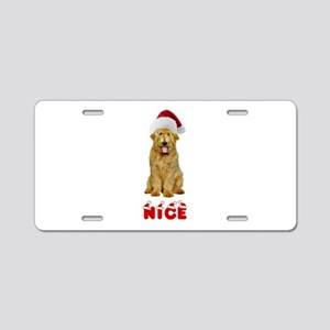 Nice Goldendoodle Aluminum License Plate
