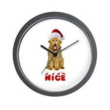 Nice Goldendoodle Wall Clock