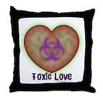 Toxic Love Throw Pillow
