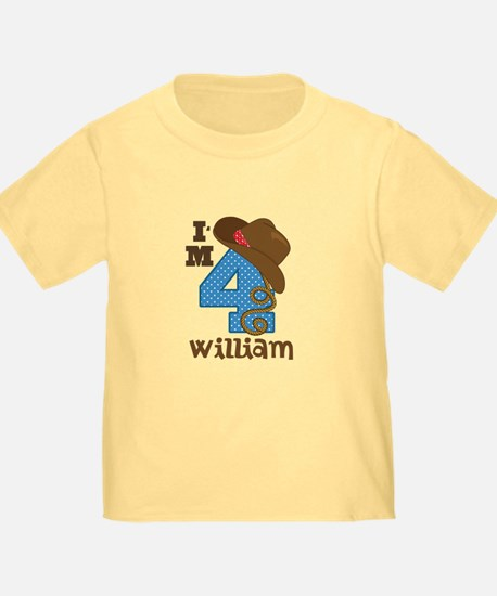 4th Birthday Cowboy Personalized T