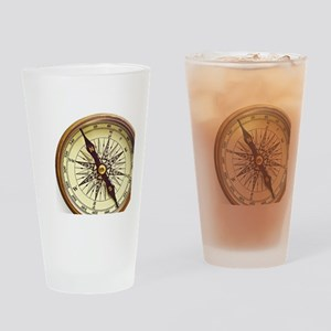 Vintage Compass Drinking Glass