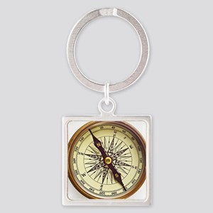 Vintage Compass Square Keychain