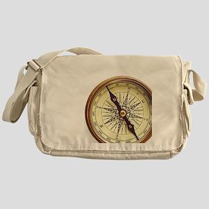 Vintage Compass Messenger Bag