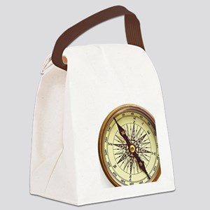 Vintage Compass Canvas Lunch Bag