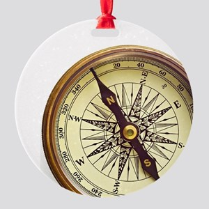 Vintage Compass Round Ornament