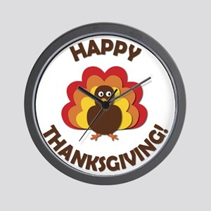 Happy Thanksgiving! Wall Clock