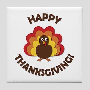 Happy Thanksgiving! Tile Coaster