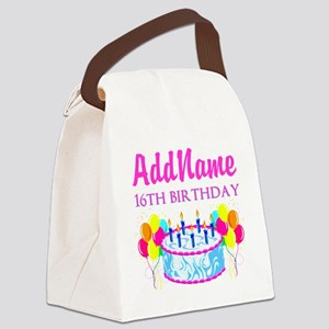 16TH BIRTHDAY Canvas Lunch Bag