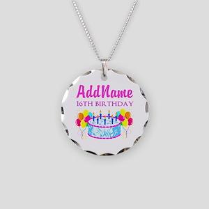 16TH BIRTHDAY Necklace Circle Charm