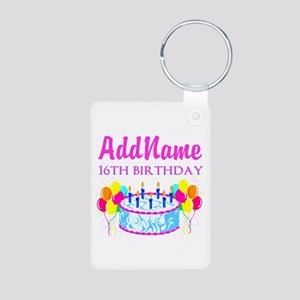 16TH BIRTHDAY Aluminum Photo Keychain