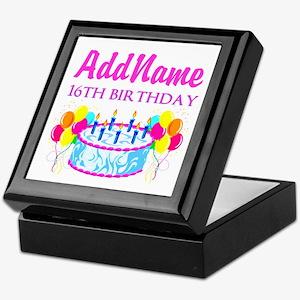16TH BIRTHDAY Keepsake Box