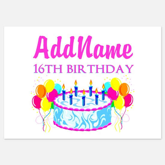 16TH BIRTHDAY Invitations