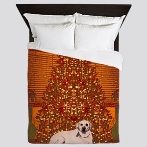 Christmas Labrador Queen Duvet