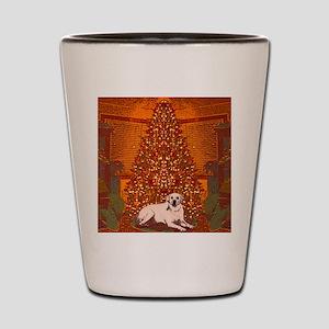 Christmas Labrador Shot Glass