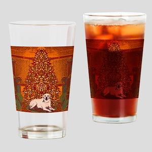 Christmas Labrador Drinking Glass